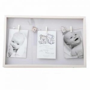 4x6in Triple Natural Baby Peg Frame