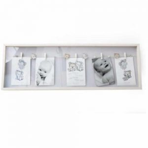 4x6in Natural Baby 5pic Peg Frame