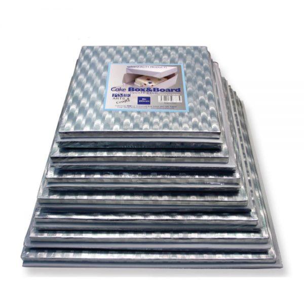 PME 8in Square Cake Board & Box