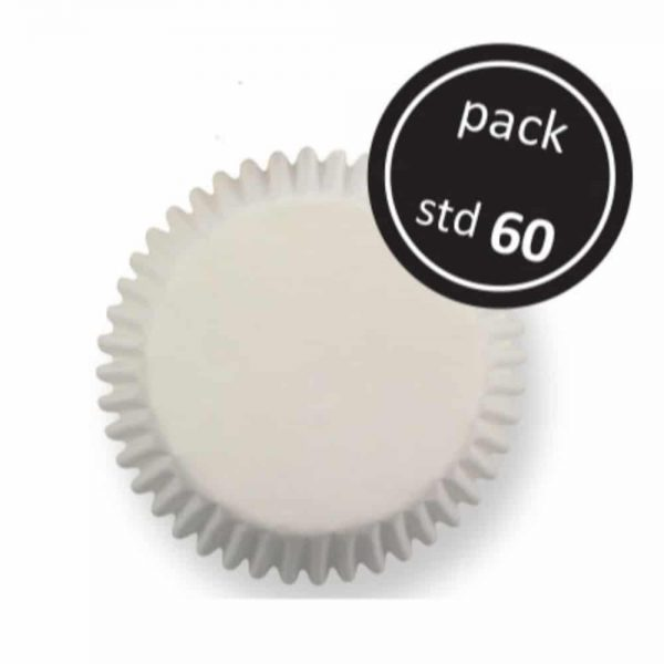 White Standard Baking Cups 60 Pack