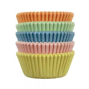 Pastel Mini Paper Baking Cases Pack of 100