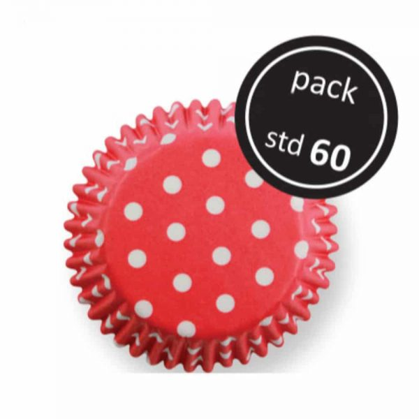 Red Polka Dots Std Baking Cups 60 Pack