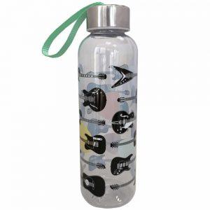 Guitar 500ml Water Bottle with Metallic Lid