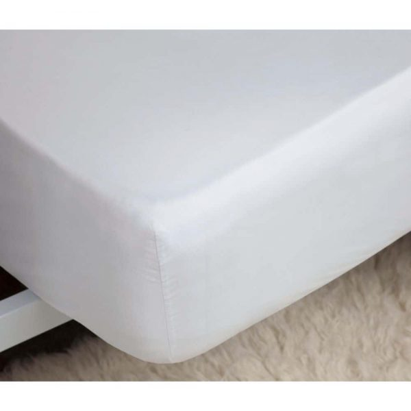 White Fitted Sheet Percale