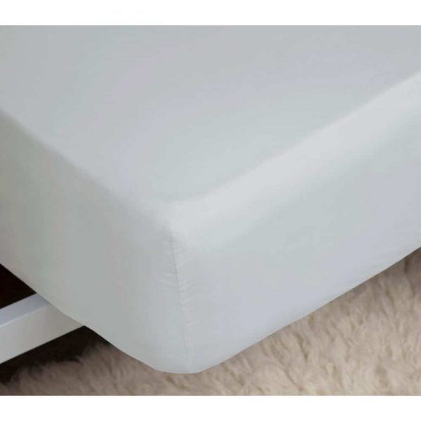 Cloud Single Fitted Sheet Percale