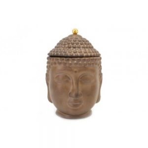 Bronze Colour Buddha Jar 22cm