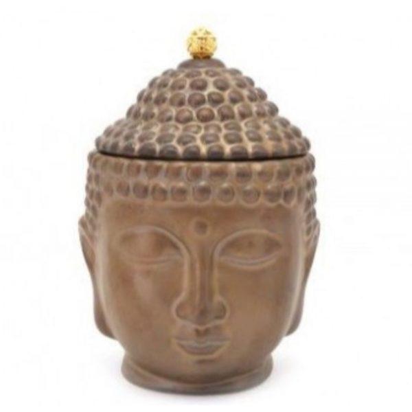 Bronze Colour Buddha Jar 18cm