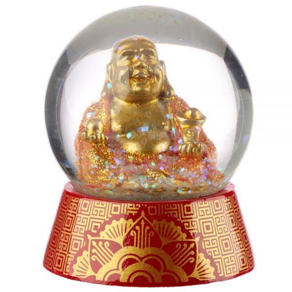 Glitter Lucky Buddha Waterball Snow Globe