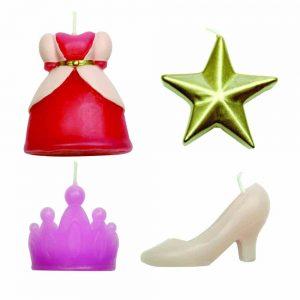 Princess Candles Set of 4