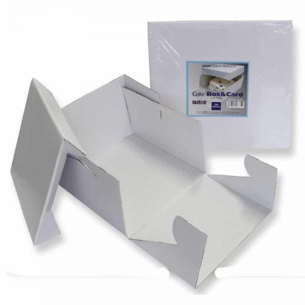 PME 14in White Cake Box