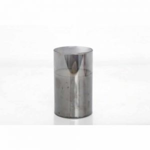 12.5x7.5cm Silver Flickering Led Candle