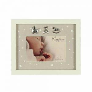 Bambino MDF Photo Frame Star Pattern 6x4