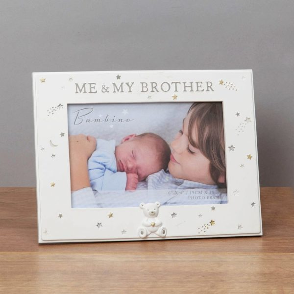 6x4in Bambino Resin Me and My Brother Photo Frame