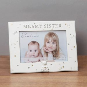 6x4in Bambino Resin Me and My Sister Photo Frame