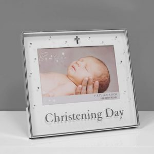 Bambino Silver Plated Photo Frame Christening 7x5