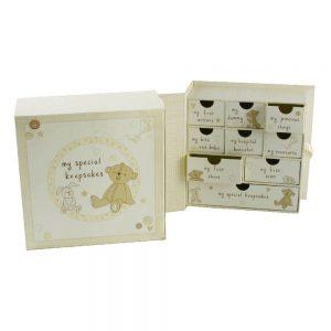 Paperwrap Book Keepsake Box with Drawers