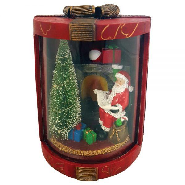 Round Santa Gift Box LED