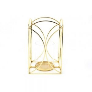 Gold Colour Lantern H23cm