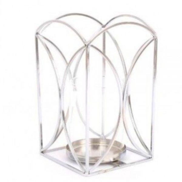Silver Colour Lantern H18cm