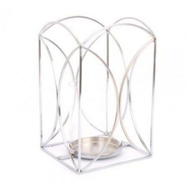 Silver Colour Lantern H23cm