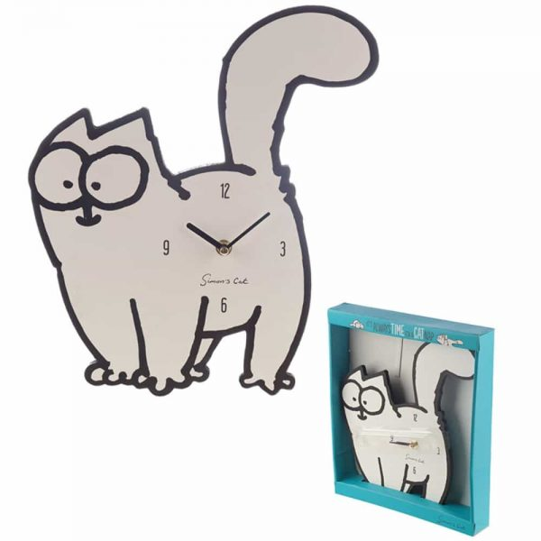 Simons Cat Shaped Picture Clock