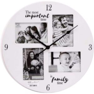 Family Time Picture Frame Clock 40cm