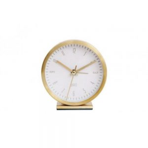 Gold Table Alarm Clock 9x4cm