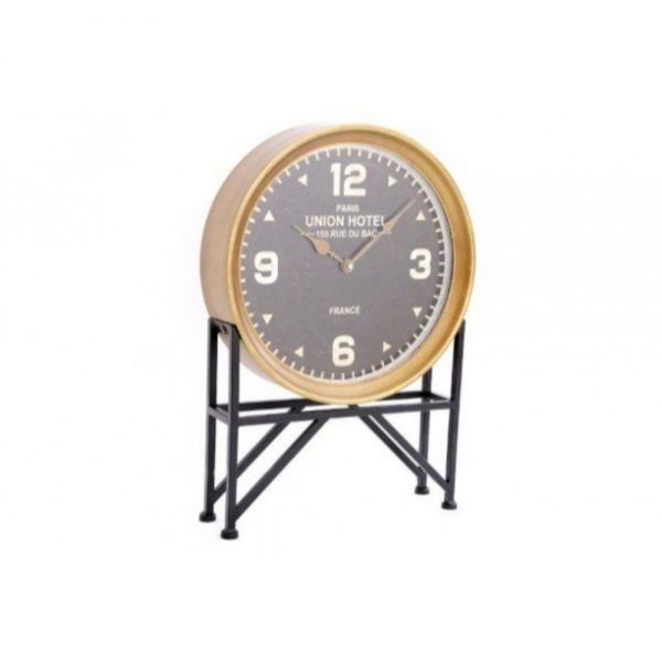 Iron Clock with Stand 35x53cm