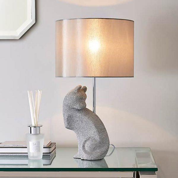 Prescilla Diamante Cat Lamp & Shade