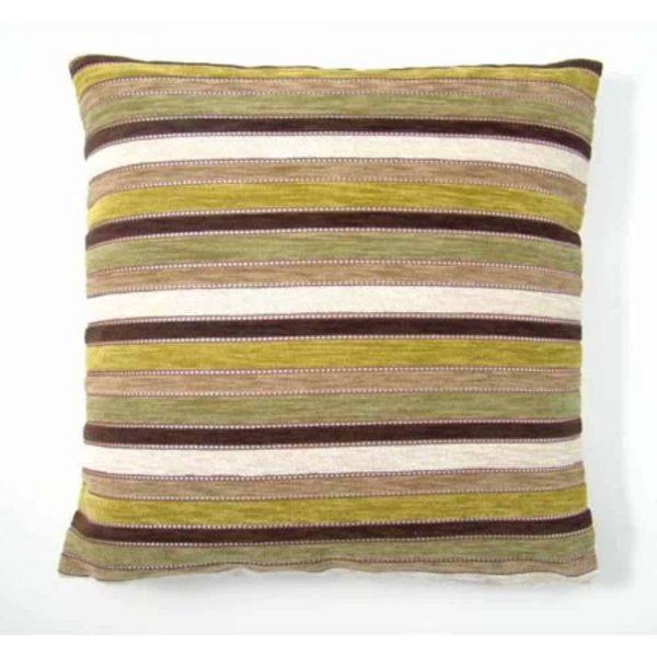 Blenheim Natural/Green Filled Cushion 40x40cm
