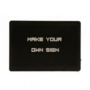 Black LED Peg Board Sign 21x30x4cm