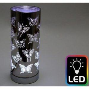 Butterfly Led Oil Burner Silver H25cm