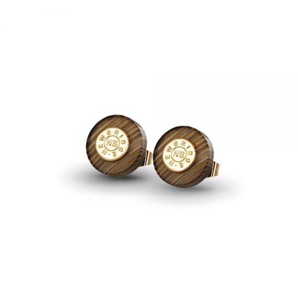 Newbridge Brown Stud Earrings