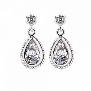 Earrings Clear Stone