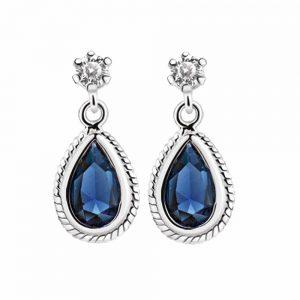 Earrings Blue Stone