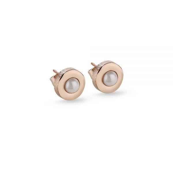 Newbridge Droplet Rose GP Earrings Cream
