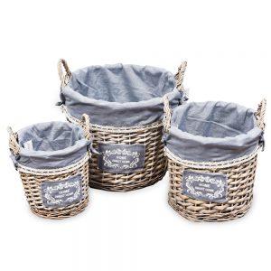 Large Basket Grey