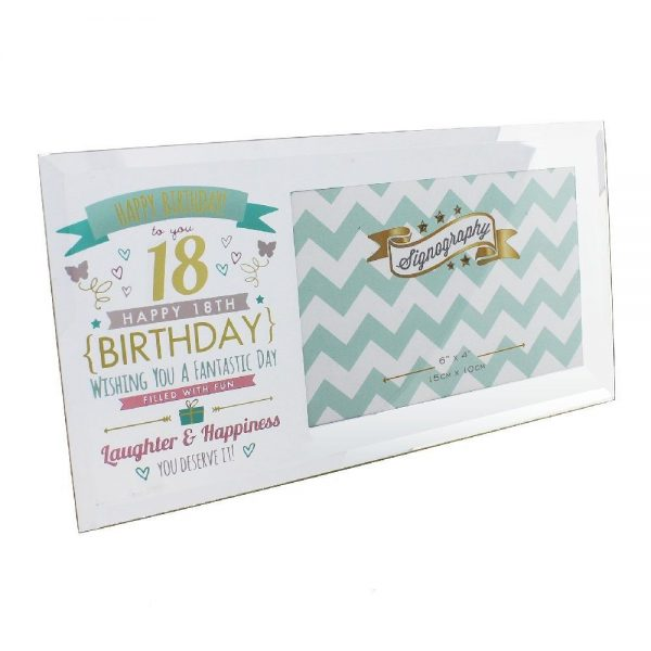 Signography 18th Birthday Glass Frame