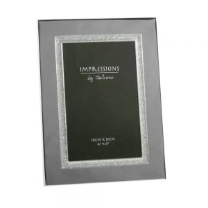 4X6 Silver Frame Sparkly Boarder