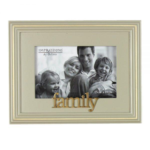 Celebrations Grey Wooden Photo Frame - Family
