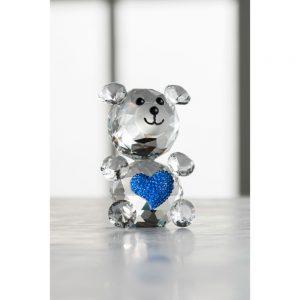 Galway Crystal Love Bear Blue