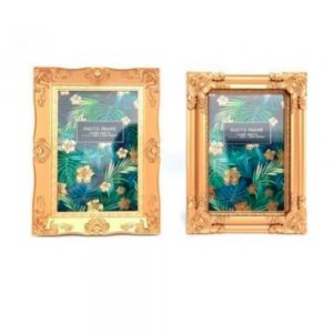 4x6in Gold Leaf Photo Frame