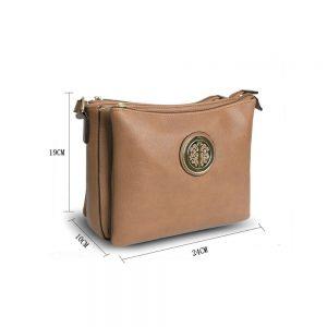 Gessy Cross Body Apricot Handbag