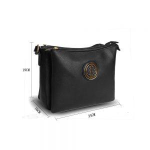 Gessy Cross Body Black Handbag