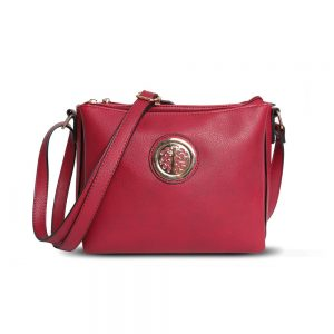 Gessy Cross Body Bag in Berry Red