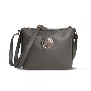 Gessy Cross Body Bag In Dark Grey