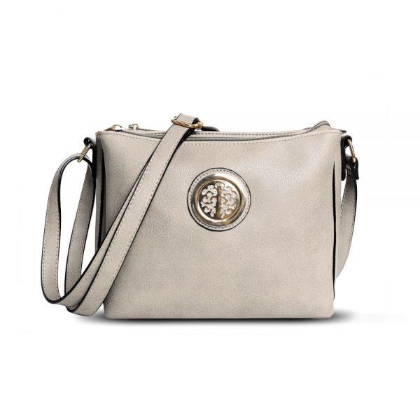 Gessy Cross Body Bag In Light Grey