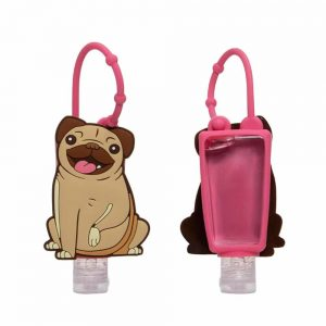 Gel Hand Sanitiser with Mopps Pug Silicone Cover