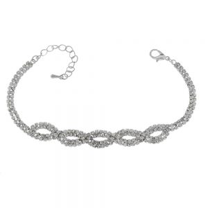 Twisted Diamante Chain Bracelet