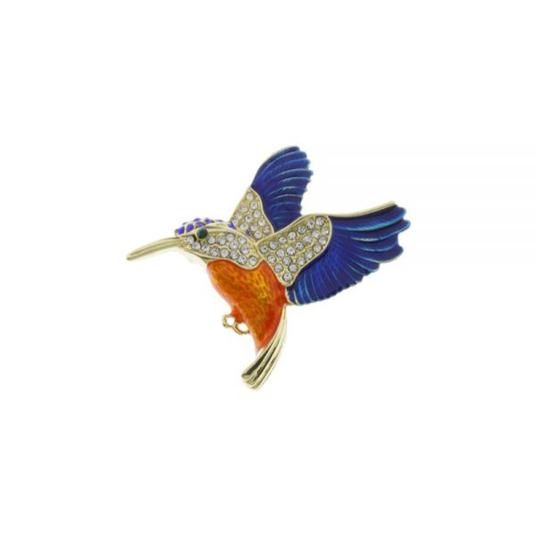 Kingfisher Gold - Blue - Orange Crystal